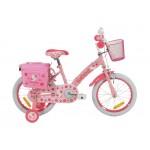 """Rowerek dziecięcy CHERRY PINK 16"""" różowy * HELLO KITTY"""
