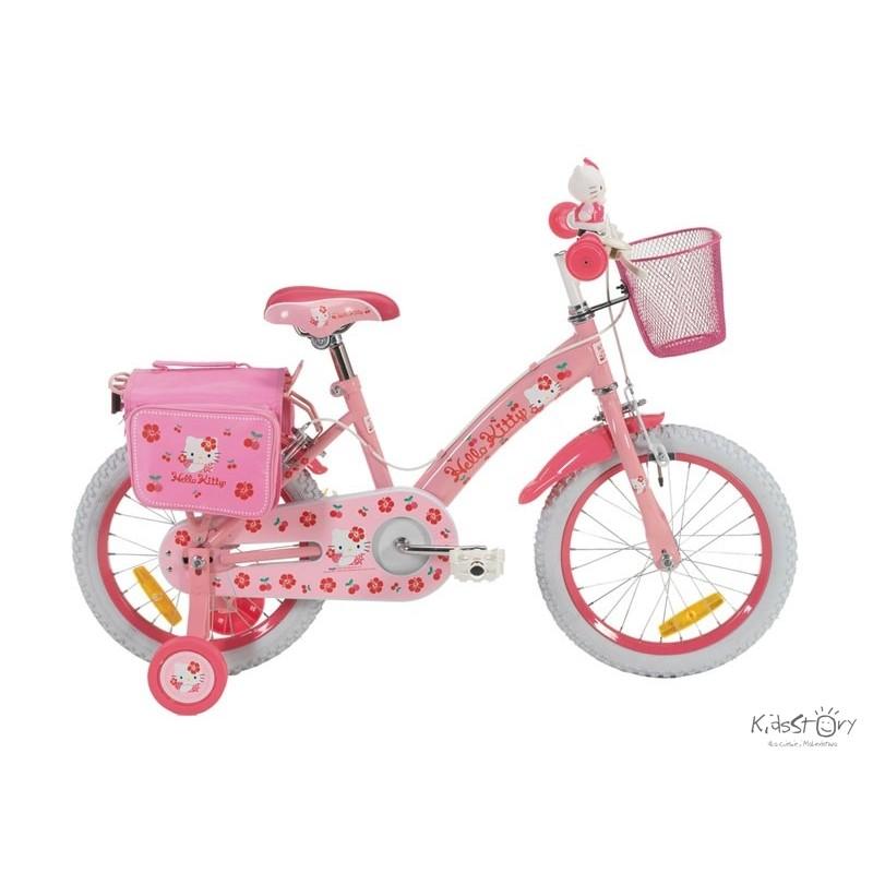 kinder fahrrad hello kitty cherry pink 16 zoll fahrrad. Black Bedroom Furniture Sets. Home Design Ideas