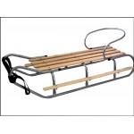 Sanki duże z oparciem i podnóżkami lekki metal drewno bukowe